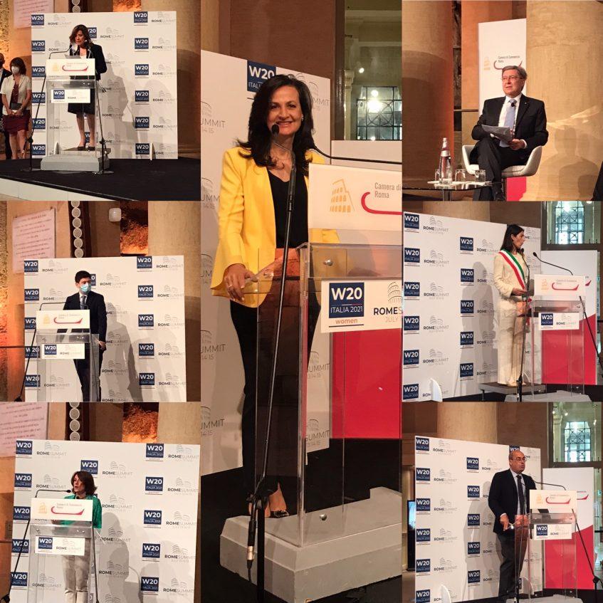 """14 luglio 2021:  ARTECARGO by Italia Cargo raccontata nel Panel """"Italian Women-lead businesses"""" del Summit W20 e il saluto del nostro CEO con le autorità locali"""
